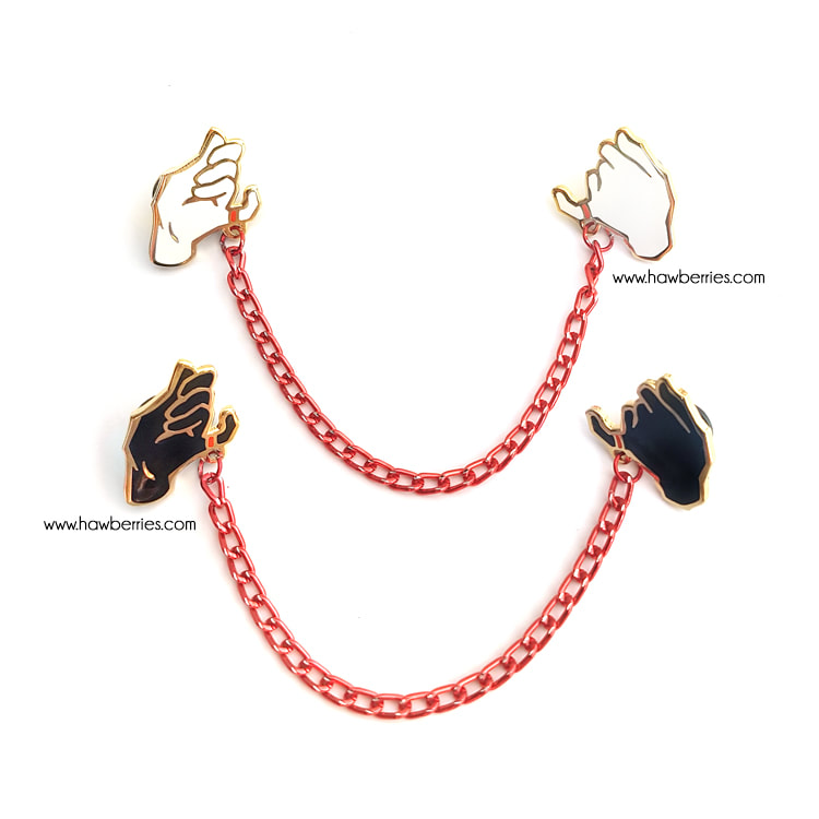Red String of Fate | Enamel collar pins